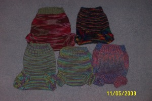 Many soakers for baby to be - Kimbers NB pattern plus another one I can't remember!
